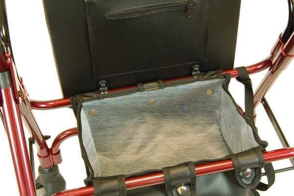 Rollator storage bag